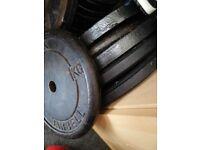 Weights plates 8 x 10 kg