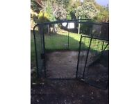 Eglu rabbit cage. With ground Eglu screws. Offering free rabbit hutch with cover