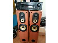 Sony tall speakers x2 and Sony amplifier