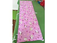 Beautiful baby girl cot bed bumper Hello Kitty