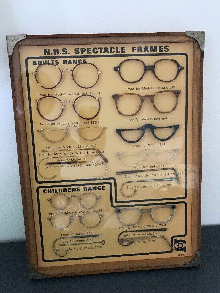 98e3bdd9d86 Optical collectors sign spectacles 1930 s antique wooden frame rare unusual  wall hanging