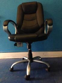 PU LEATHER COMPUTER CHAIR SEAT SWIVEL RECLINING HIGH BACK ADJUSTABLE