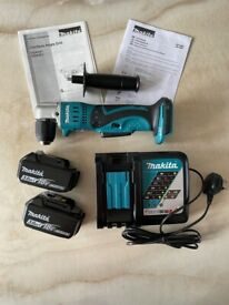 Makita Angle Drill, 2x 3Ah 18V Batteries & Charger