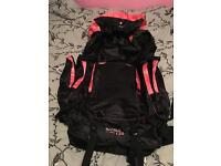 Karabar Makalu Top Loader 120 Litres Extra Large Travel Backpack (Black/Pink)