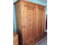 Excellent Condition Quality Hand Made Solid Pine Wardrobe,Can Deliver