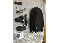 Canon EOS 600D plus accessories
