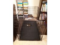 Large dog crate, in perfect condition- black in colour.