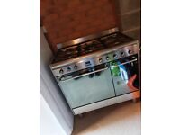 smeg cg92x9_ss dual fuel range cooker in stainless steel