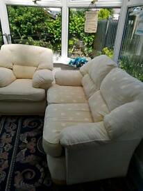 Comfy 2 seater sofa and chair
