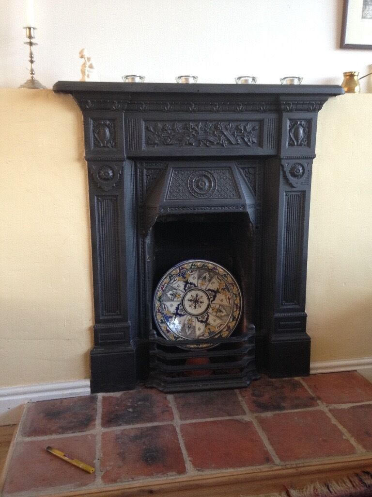 Decorative Cast Iron Fireplace Surround And Mantle In