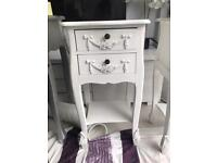 Shabby chic Toulouse 2 drawer bedside tables
