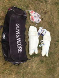 Cricket Bag with pads, gloves boots (size 8)