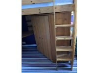 Cabin Bed with Built in Wardrobe