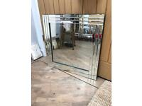 Beautiful All Glass Bevelled Framed Mirror