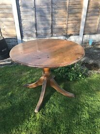 3ft round wooden table.