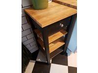 IKEA kitchen trolley with solid oak worktop - in SA1