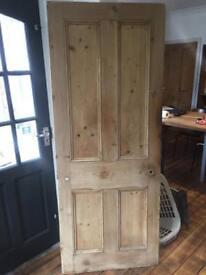"""Reclaimed Victorian door. 4 panel dipped 30"""""""