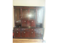 Glass fronted shelving unit kingsbury