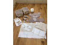 Next nursery curtains and accessories set cream and brown
