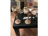 His and hers twine glasses