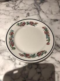3 small desert plates
