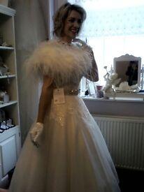 Forget-me-not Designs Wedding Dress NEW/UNWORN