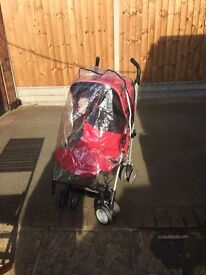 Red silver cross pushchair buggy