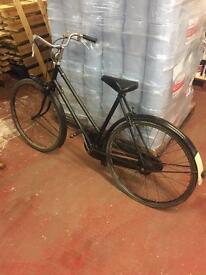 Vintage Ladies Raleigh Push Bike Black