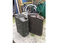 Vintage Jerry cans. 5 gallons.