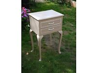 Pretty painted wood cabinet