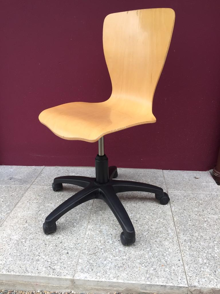 Funky beech office chair