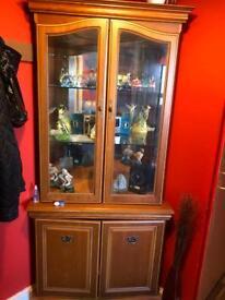 Large Solid Corner Display Cabinet £70