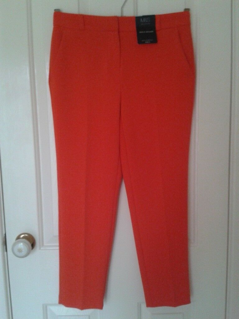 Ladies Marks and Spencer, Collection, Petite Range, Ankle Grazer Trousers.