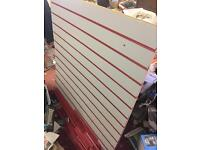 Slat wall slatwall board with strip inserts