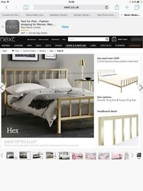Next double bed frame RRP £400 great condition, dismantled and ready to collect.