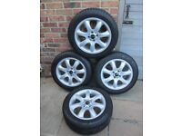 Mini Alloy Wheels with Winter Tyres