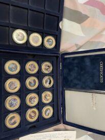 15 queen coronation jubilee coins