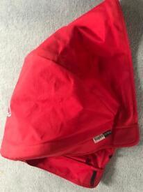 Bugaboo Donkey red hood fabric