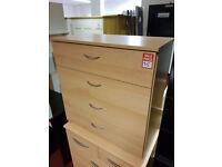 ceval 4 drawer chest oak