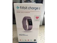 Fitbit Charge 2 Limited Edition Rose Gold Brand New sealed box