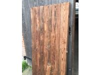 WOODEN FRAMED CLOSE BOARD GATE
