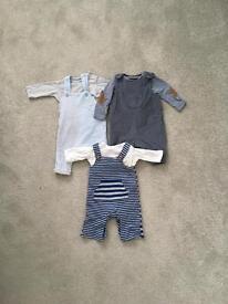 Zara/mini club/mothercare 0-3 dungaree bundle