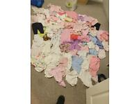 Job lot of Baby Girls Clothes 0-3