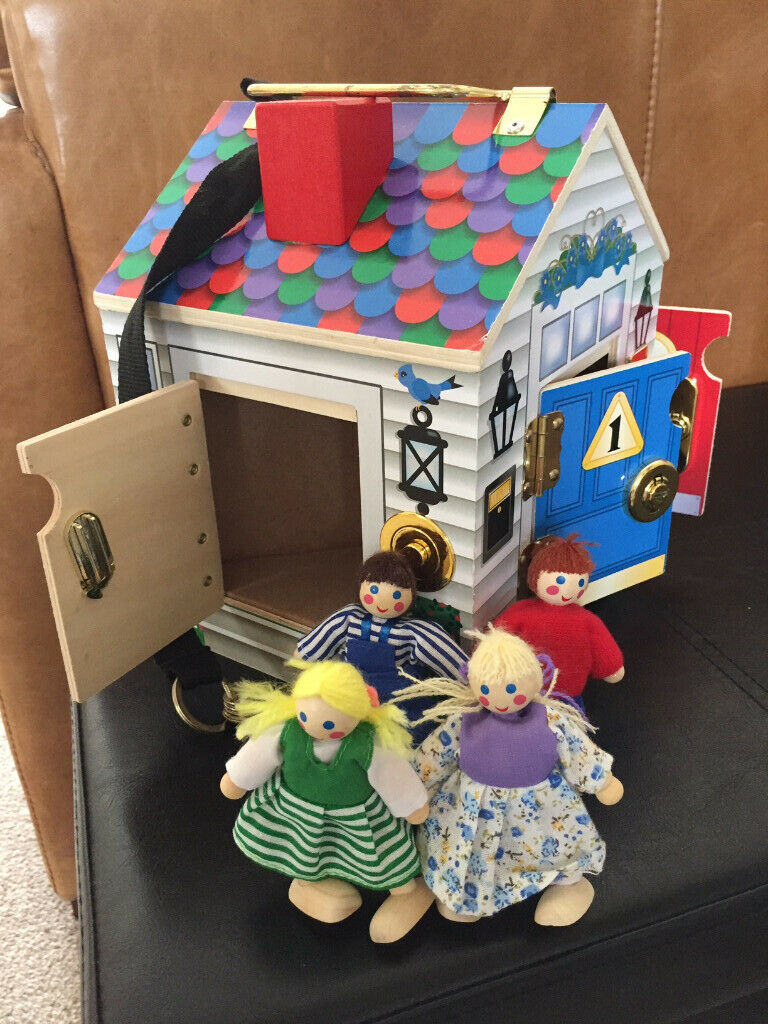 Melissa Doug Wooden Doorbell House Complete With Original 4 Wooden Dolls In Sheffield South Yorkshire Gumtree