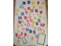 57 Cookie cutters - variety of shapes and colours