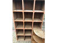 wooden compartment storage