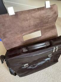 Corniche brown leather laptop documents shoulder carry bag