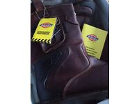 Brand new in box Dickies New Texan Safety rigger boots steel toe