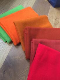 Scandinavian Wool Fabrics samples in various colours