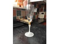M & s hand decorated champagne flutes (6)